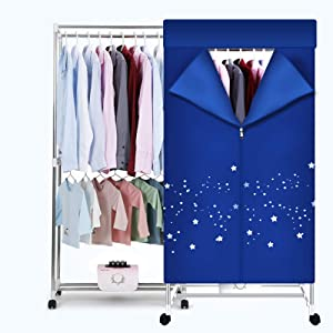 Clothes Dryer 1000W Portable Drying Rack 1.5 Meters Double layer Small Electric Wardrobe Home Apartments Travel RV Washer and Dryer Combo
