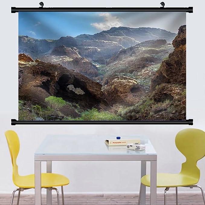 Amazon.com: Gzhihine Wall Scroll Masca Rocky Canyon Tenerife ...