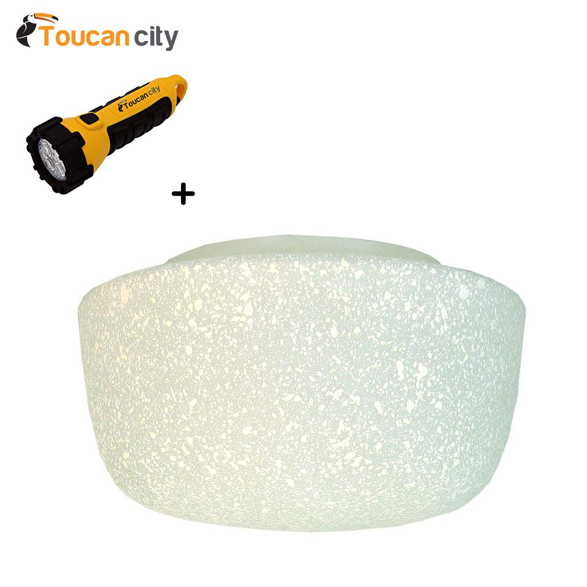 Toucan City LED Flashlight and Courtney Ceiling Fan Replacement Glass Globe 82392038823 by Toucan City