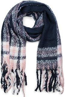 styleBREAKER Châle épais avec un motif à carreaux et à rayures et des  franges, écharpe 947b52ed7c6a