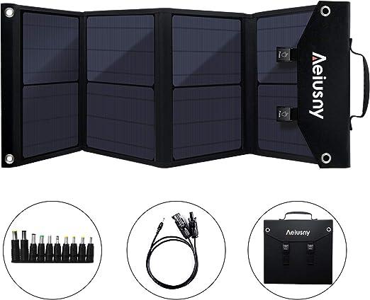 Aeiusny Generador portátil, generador de UPS, batería de Respaldo Recargable por energía Solar, con Salida de 110 V CA, 12 V Car, Salida USB, Fuente de alimentación para CPAP Camping Emergencia: Amazon.es: