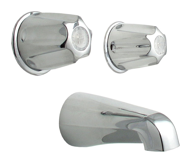 LDR 011 8200 Double Handle Tub Faucet Chrome