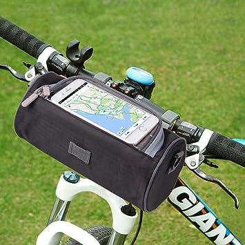 Amazon.com: Bolsa para manillar de bicicleta, ANTIKE ...