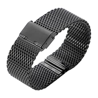 Correa de reloj, XINGDONGCHI 22mm Inoxidable Acero Correa Metal Banda para Motorola Moto 360 SmartWatch y Lg G Watch R W100 W110, urbano, Guijarro, ...