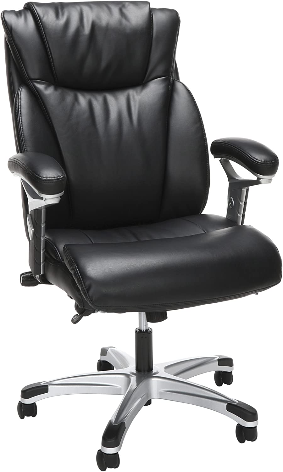 OFM Essentials Series Ergonomic Executive Bonded Leather Office Chair, in Black