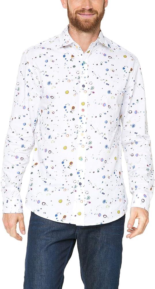 Desigual MANOLOSINK Camisa, Blanco (Blanco 1000), Small para Hombre: Amazon.es: Ropa y accesorios