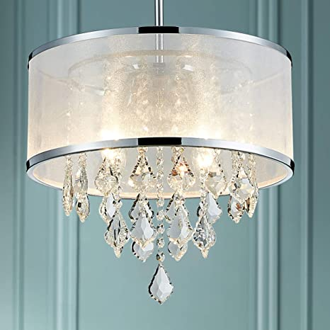 Bestier Moderne Kristalltrommel Kronleuchter anhänger kristall trommel  kronleuchter beleuchtung deckenleuchte lampe esszimmer badezimmer  schlafzimmer ...