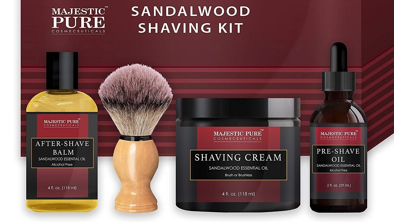 Shaving Kit for Men with Sandalwood art of shaving products