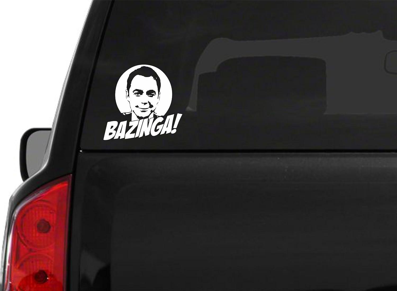 80%OFF 2Bazinga Sheldon Cooper The Big Bang Theory Sticker fenêtre de voiture sticker design Bumper