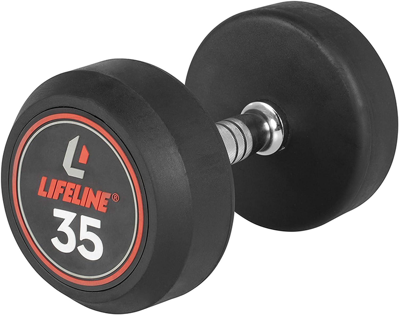 Lifeline Pro Round Rubber Dumbbell