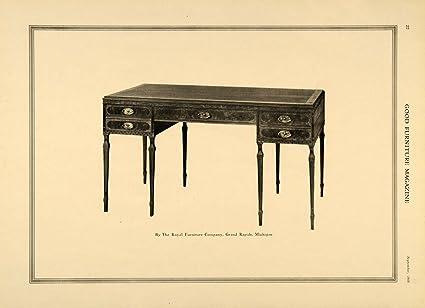 Beau 1918 Ad Desk Royal Furniture Company Grand Rapids Decor   Original Print Ad
