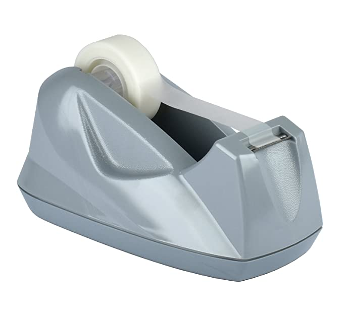Amazon.com : Acrimet Premium Tape Dispenser Jumbo (Platinum Silver Color) : Office Products
