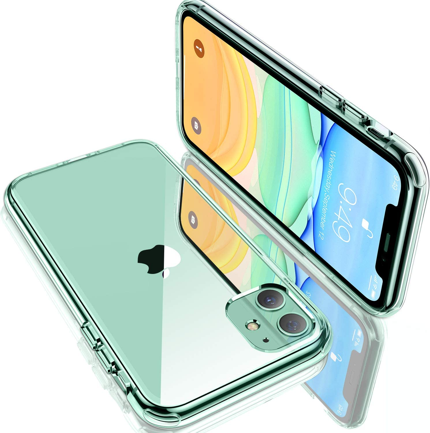 """Humixx Shockproof Clear iPhone 11 Case,[6 FT Military Grade Drop Protection] [11X Anti-Yellowing] Protective Transparent Clear Case for Apple iPhone 11 6.1"""" with Shockproof Soft Bumper, Clear"""