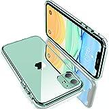 【Humixx】iPhone 11 ケース クリアケース 米軍MIL規格取得 耐衝撃 UVハードコーティング レンズ保護 黄ばみ防止 持ちやすい ワイヤレス充電対応 6.1インチ対応 (クリスタル ・クリア)