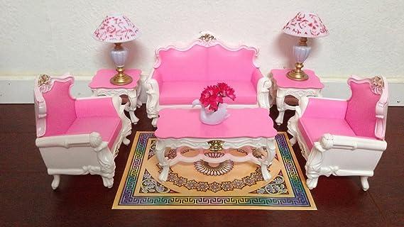 Amazon.com: Gloria Barbie Sized Deluxe Living Room Furniture ...