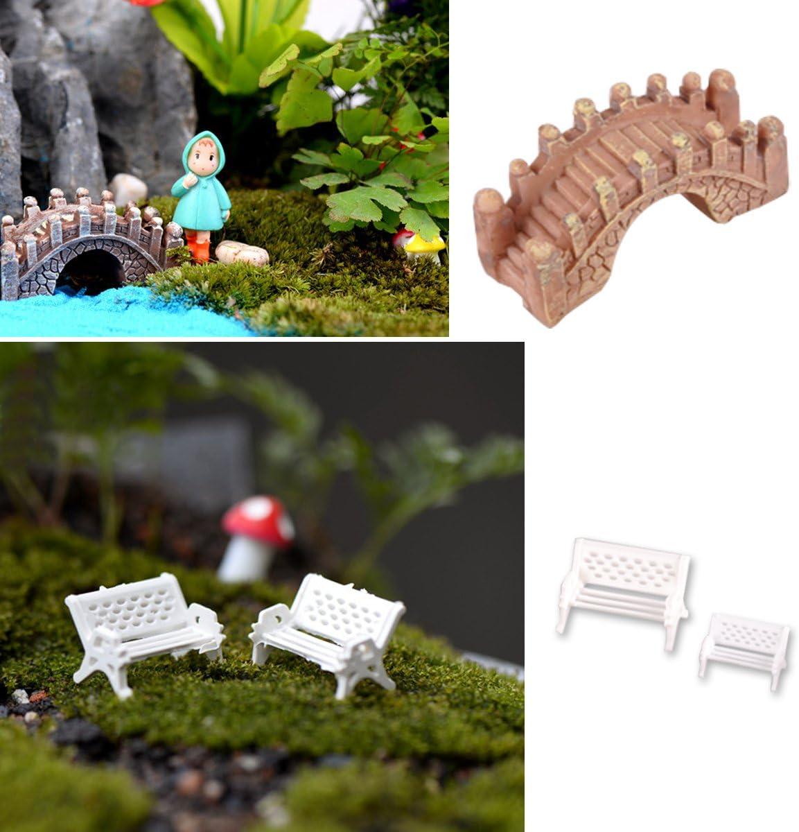 Lot de 60 pcs Champignon Miniature en Résin Maison de Poupée Jardin Bonsaï