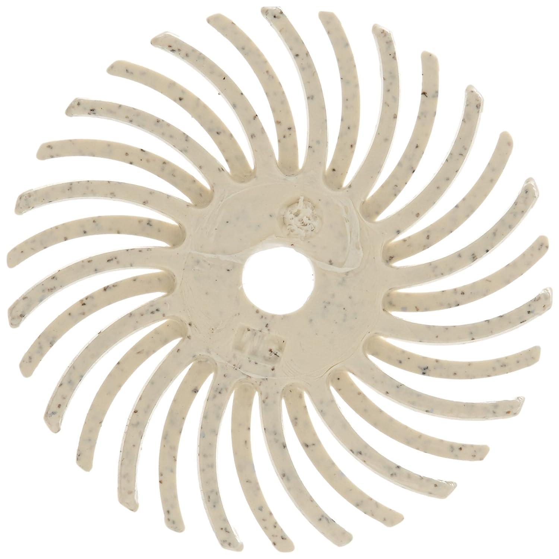 Scotch Brite TM Radial Bristle Disc Thin Bristle 35000 rpm 1 Diameter 120 Grit White Pack of 24