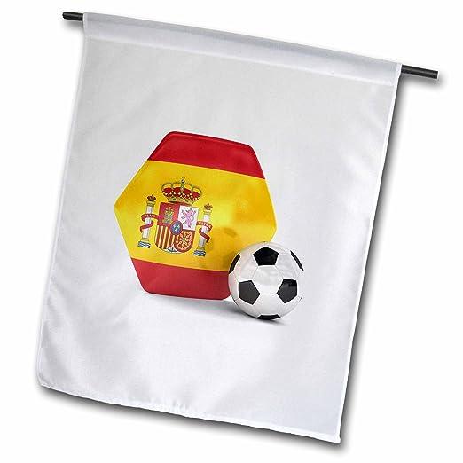 3dRose FL 181916 _ 1 España Portugal Balón de fútbol Bandera de ...