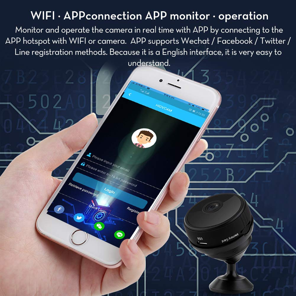 [Forbid Doing Bad Things] RegeMoudal Hidden Camera Wireless Spy Camera  1080P WiFi Mini Camera with 150°Angle Night Vision Motion Detection for  Indoor