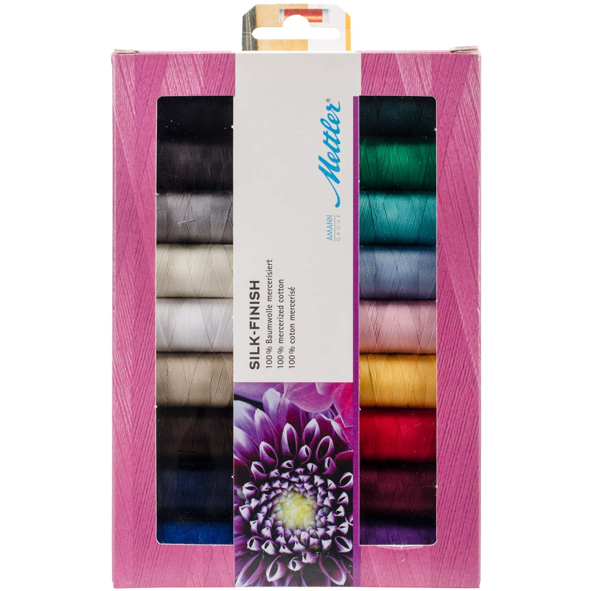 Mettler SFC18-KIT Silk Finish Cotton Thread Gift Pack 18/Pkg, White by Mettler