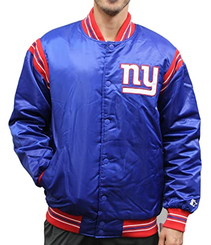 save off 2a5cd 67e47 STARTER York Giants NFL Men's The Enforcer Premium Satin Jacket