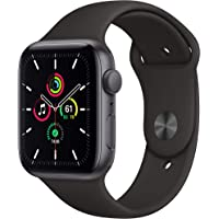 Apple Watch SE (GPS, 44mm) Space Gray Aluminum Case with Black Sport Band