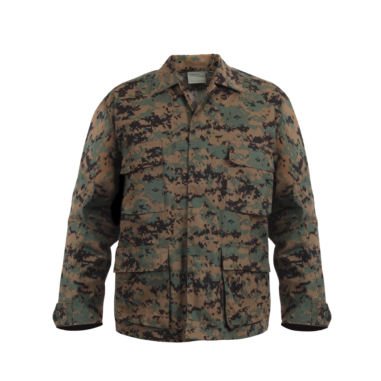 Rothco Bdu Shirt - Woodland Digital Camo RSR Group Inc 613902869035