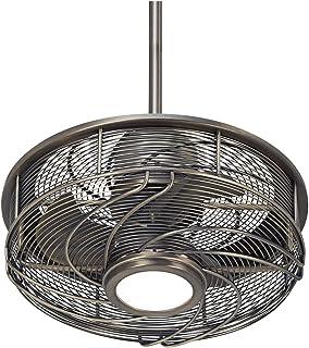 24 casa vieja chrome drum ceiling fan amazon 17 casa vestige antique bronze cage led ceiling fan aloadofball Gallery