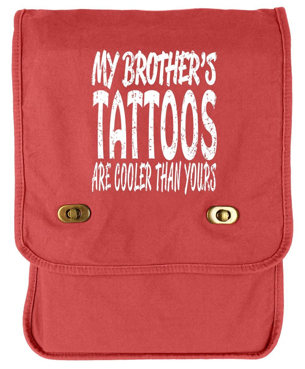 Tenacitee Brothers Tattoos Flamingo Raw Edge Canvas Messenger Bag