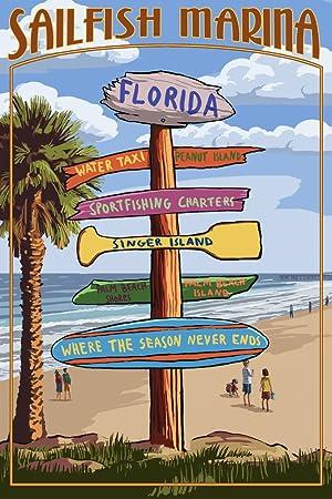 Amazon.com: Sailfish Marina, Florida - Destinations Signpost ...