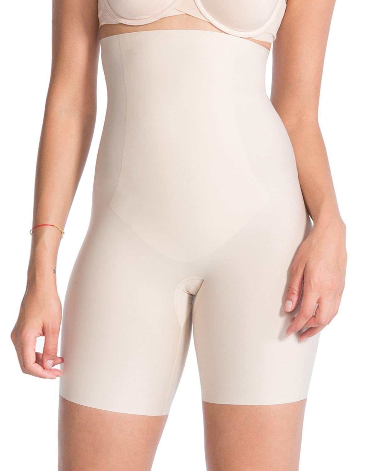 Spanx Womens Thinstincts High-Waisted Mid-Thigh Microfibre Short Shapewear