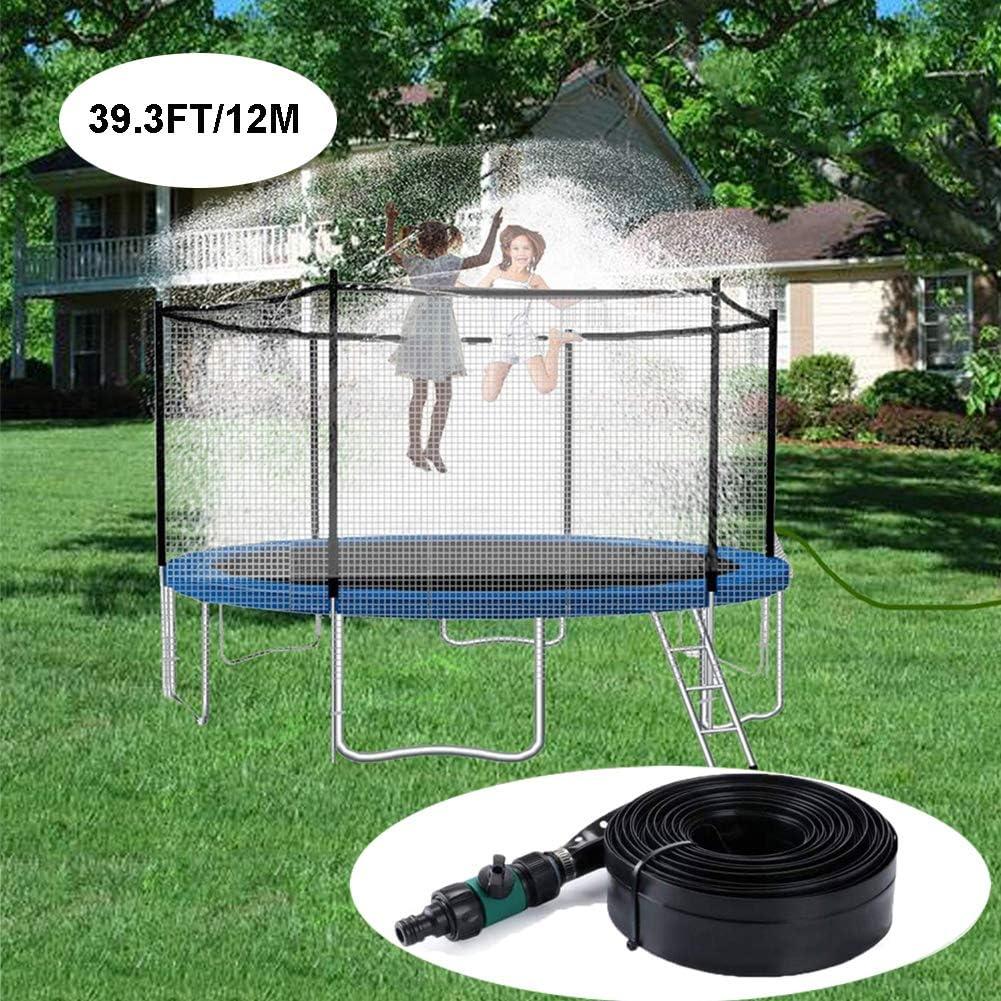 Hyuhome Trampolín de riego del Juguete, Verano al Aire Libre Juegos acuáticos para niños y niñas, Cama elástica Sistema de refrigeración con ataduras de Cables