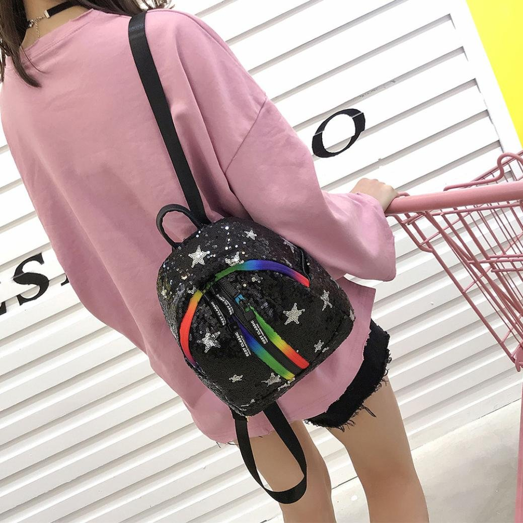 2050a731e51b Amazon.com: LtrottedJ Women Fashion Glitter Bling Backpack,Pretty ...