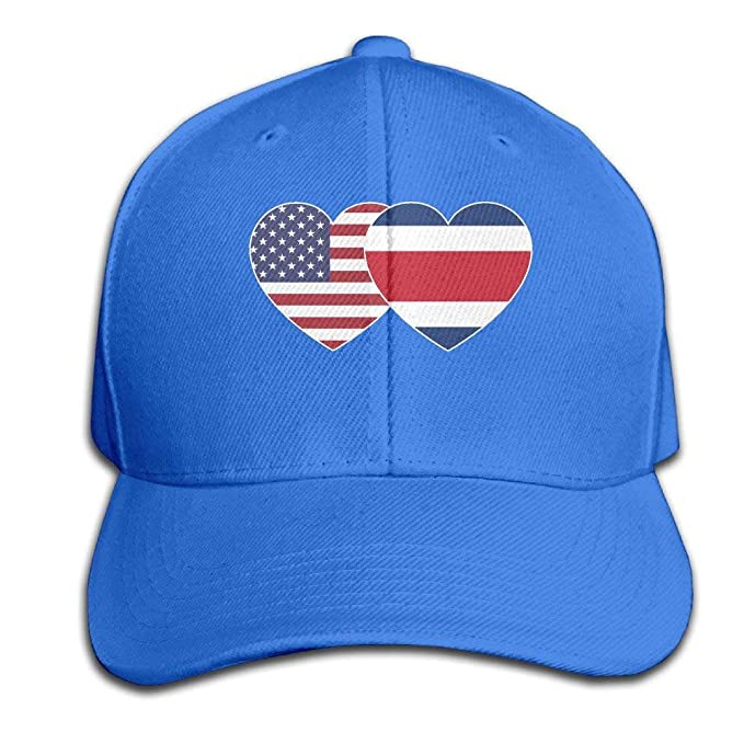 Eveler Costa RICA USA Twin Flag Baseball Cap Unisex Fishing Caps ... 6a9b89ecf02