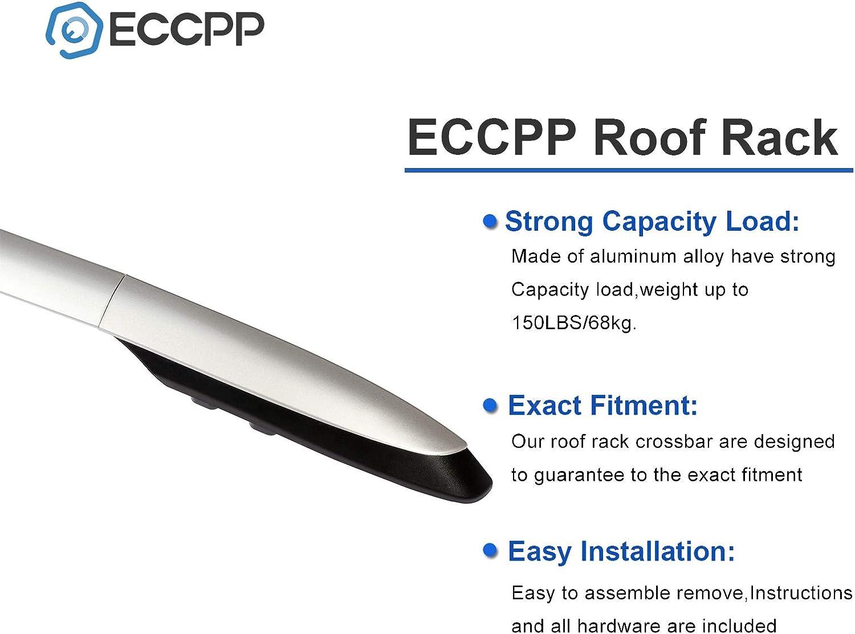 ECCPP Kayak Roof Rack Side Rails Fit for Toyota RAV4 Sport Utility 2013 2014 2015 2016 2017 2018,Aluminum Cross Rails Luggage Cargo Carrier Roof Side Rails