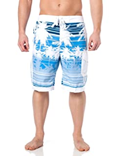 Alkii Mens Hybrid Boardshorts with mesh lining - Isla Palms