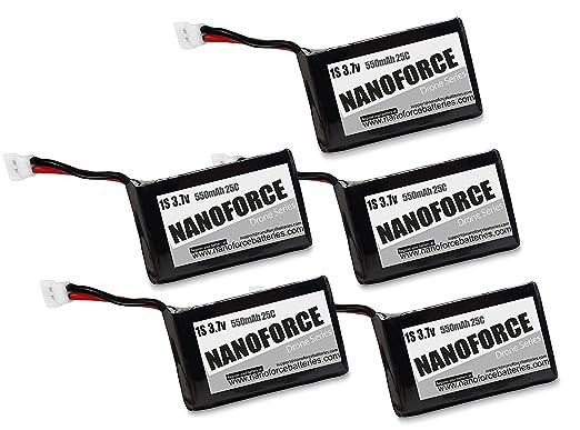 1S 3.7V Lipo 550mah 25C Batteries,Works with Syma X5C, X5SC, X5SW ...
