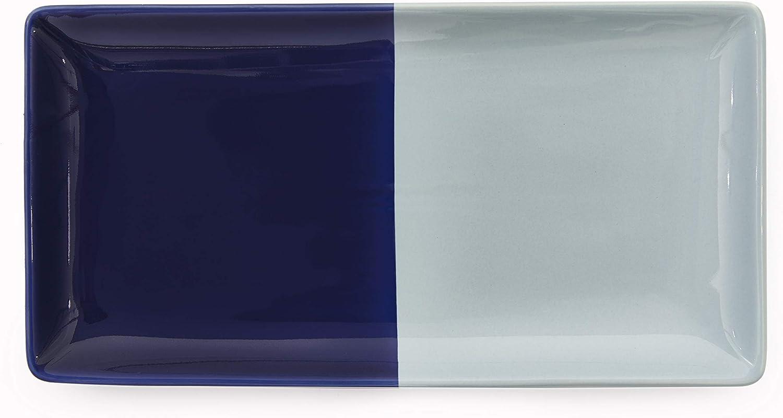 Kate Spade New York Half Dot Bath Accessories Vanity Tray, Navy/Turquoise