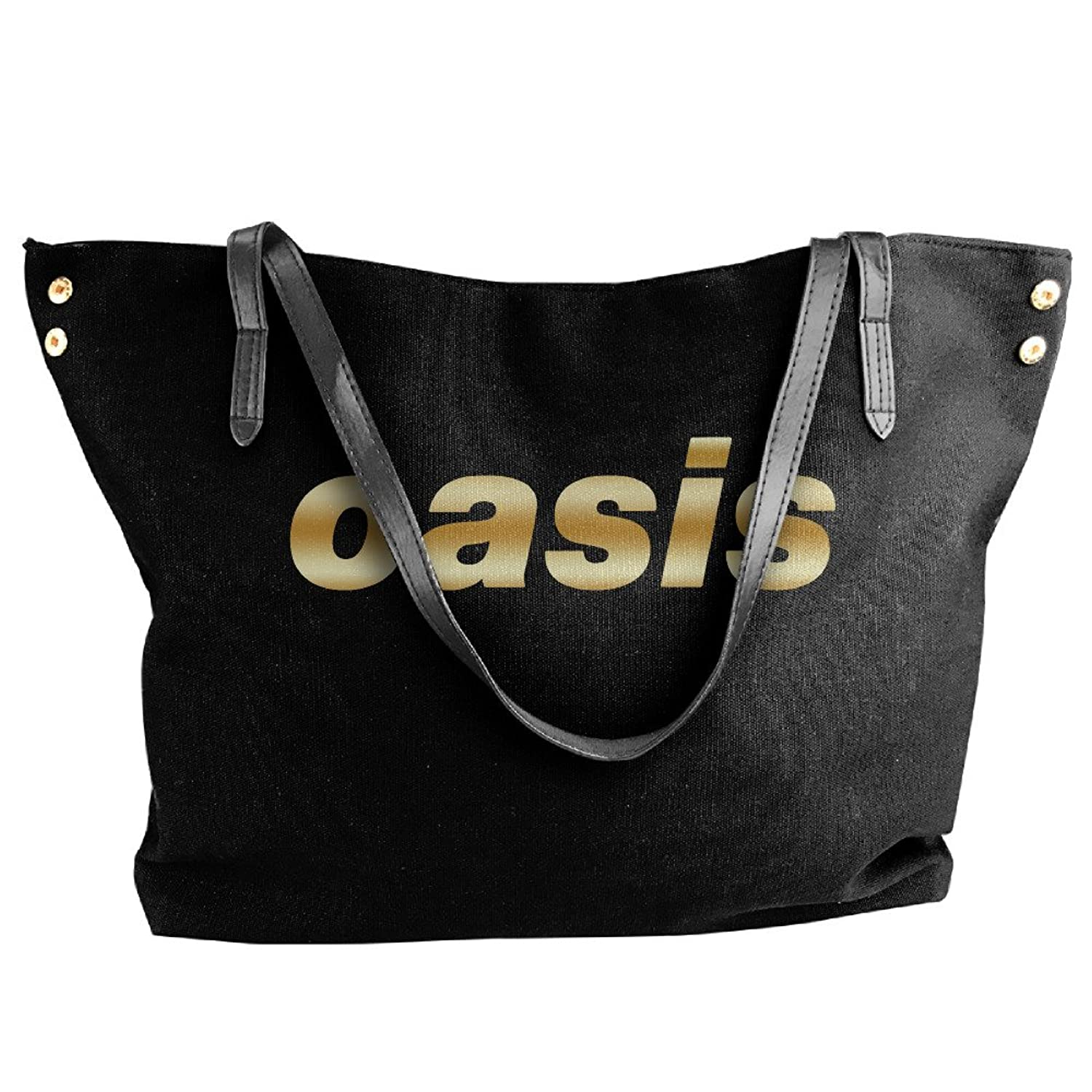 Oasis Band Gold Logo Women Shoulder Bags