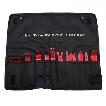 Kit de herramientas de desmontaje para coches, color rojo, ideal para desmontar paneles de puertas y embellecedores, 11 piezas: Amazon.es: Coche y moto