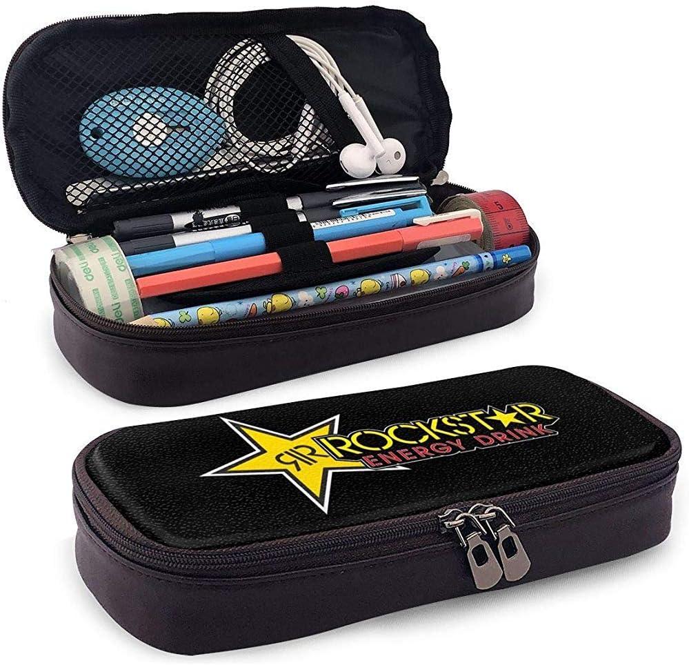 Rockstar Energy Drink Estuche para lápices Bolso para bolígrafo Bolso para maquillaje Bolsa para escuela Oficina Colegio: Amazon.es: Oficina y papelería