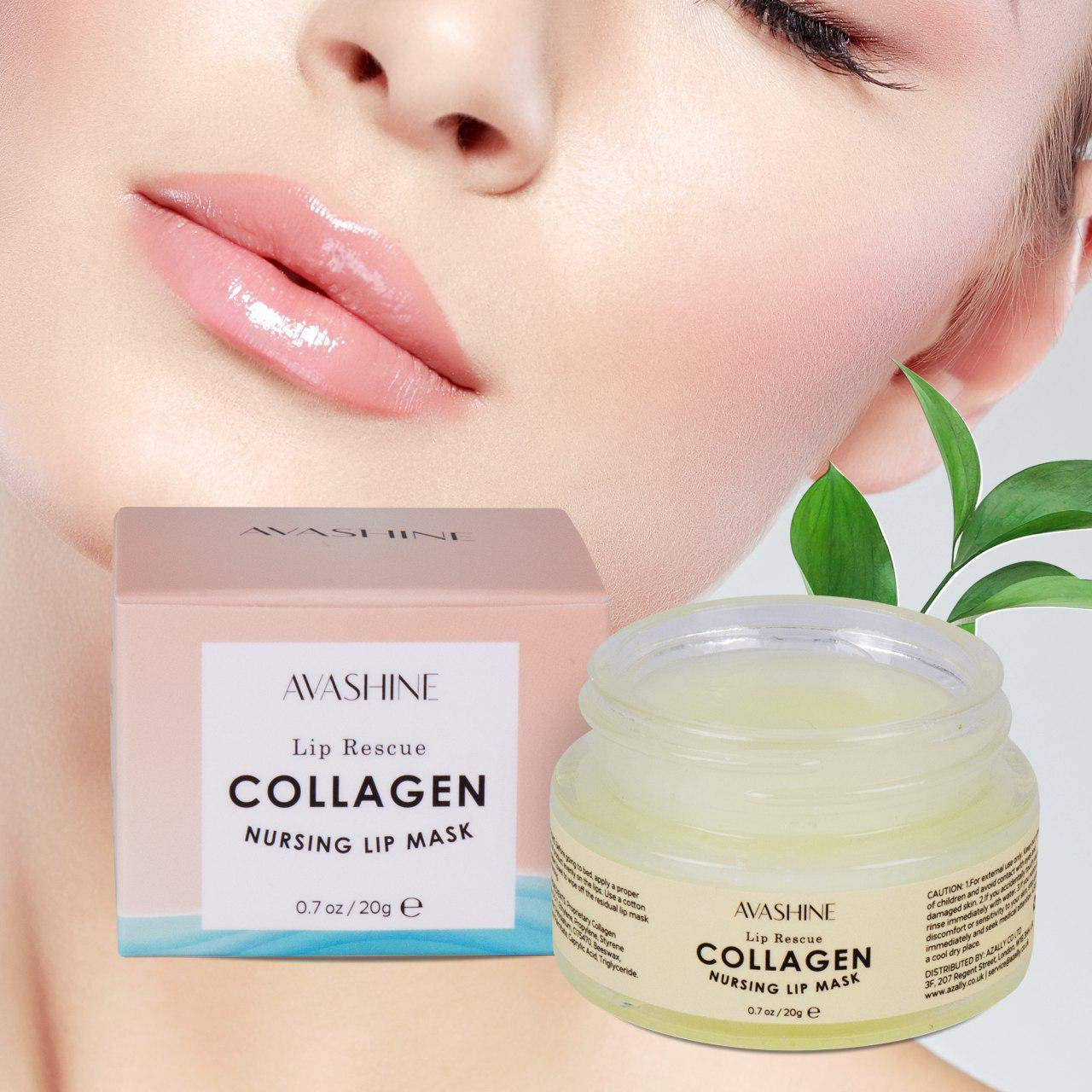 Avashine Lip Sleep Mask with Collagen Peptide, lip collagen, a Lip Moisturizer for Lip Care and Lip Treatment by Avashine