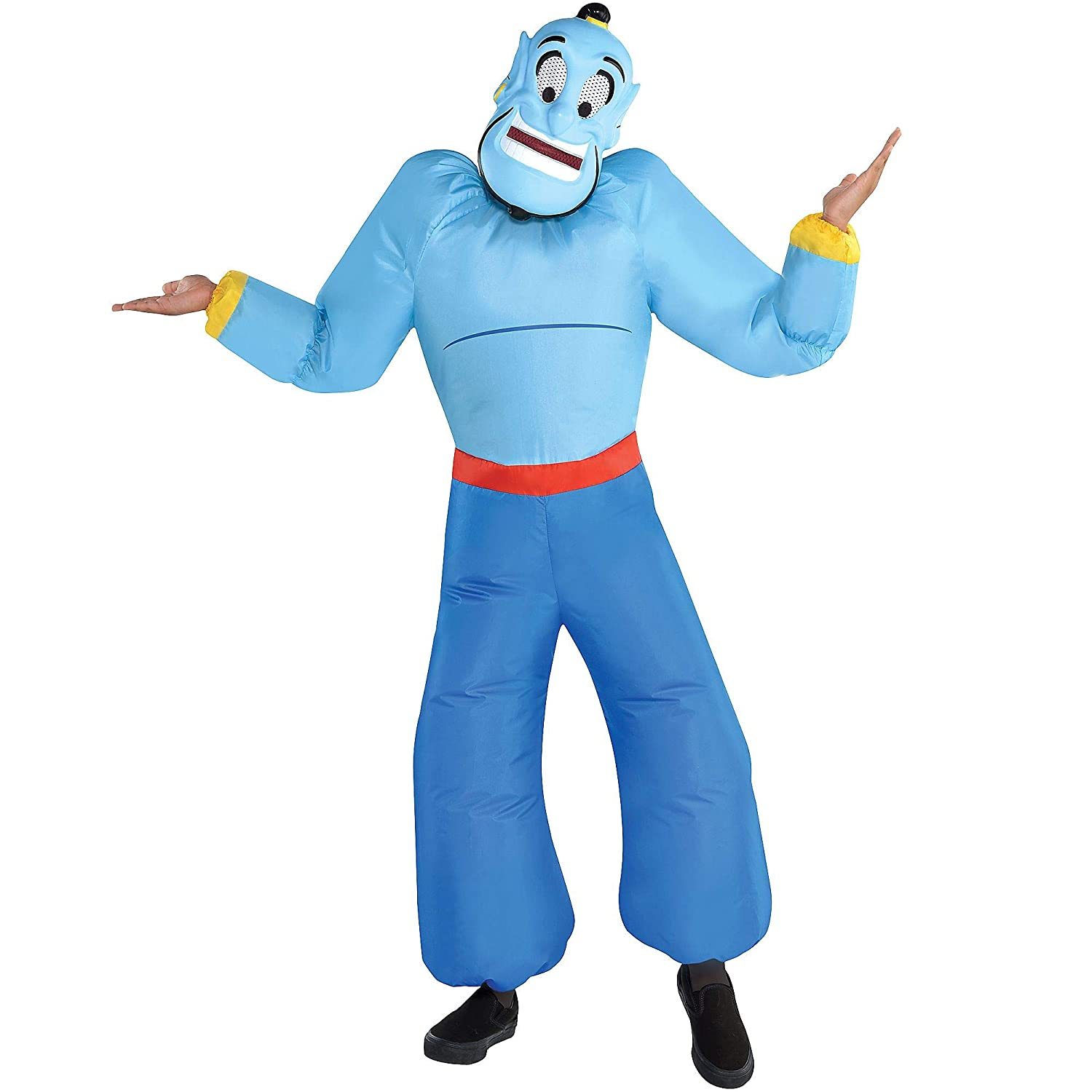 Party City Inflatable Genie Halloween Costume For Boys Aladdin Standard With Mask