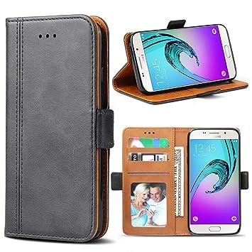 Bozon Galaxy A5 2016 Hülle, Leder Tasche Handyhülle für Samsung Galaxy A5 (2016) Schutzhülle Flip Wallet mit Ständer und Kart