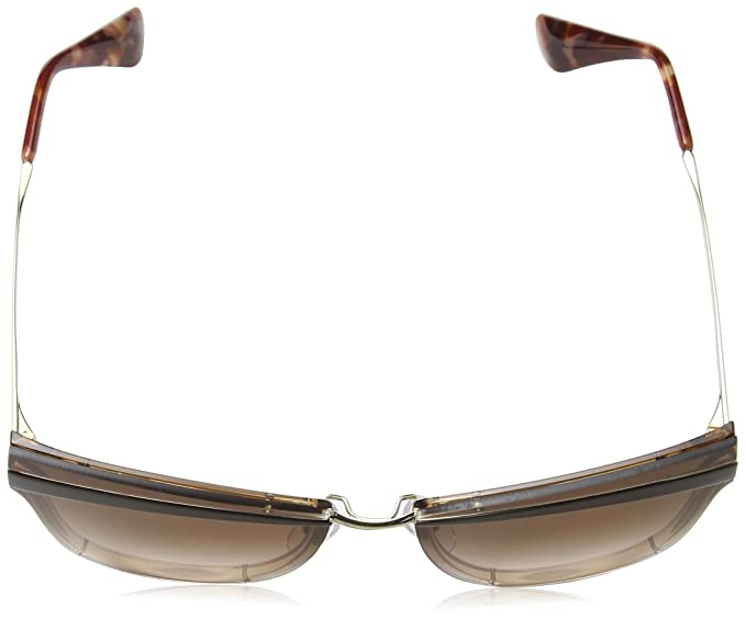 Prada Damen Sonnenbrille 0PR12US KOF0A6, Gold (Pale Gold/Antique Pink/Brown), 65