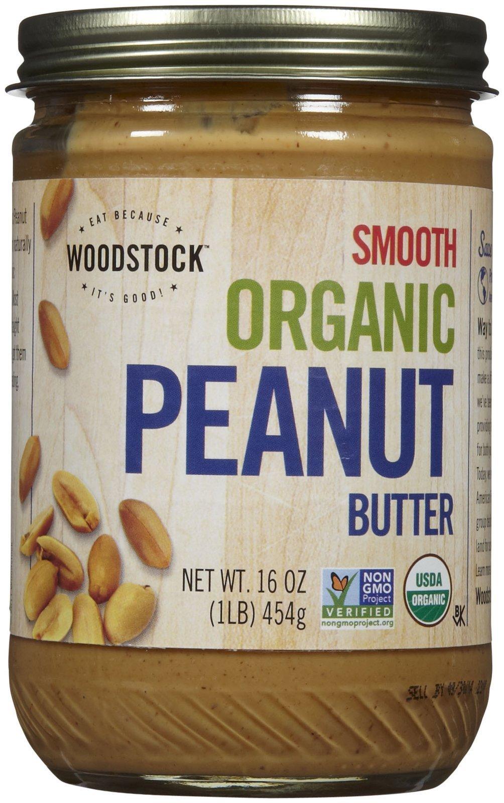Woodstock Organic Smooth Peanut Butter, 16 oz