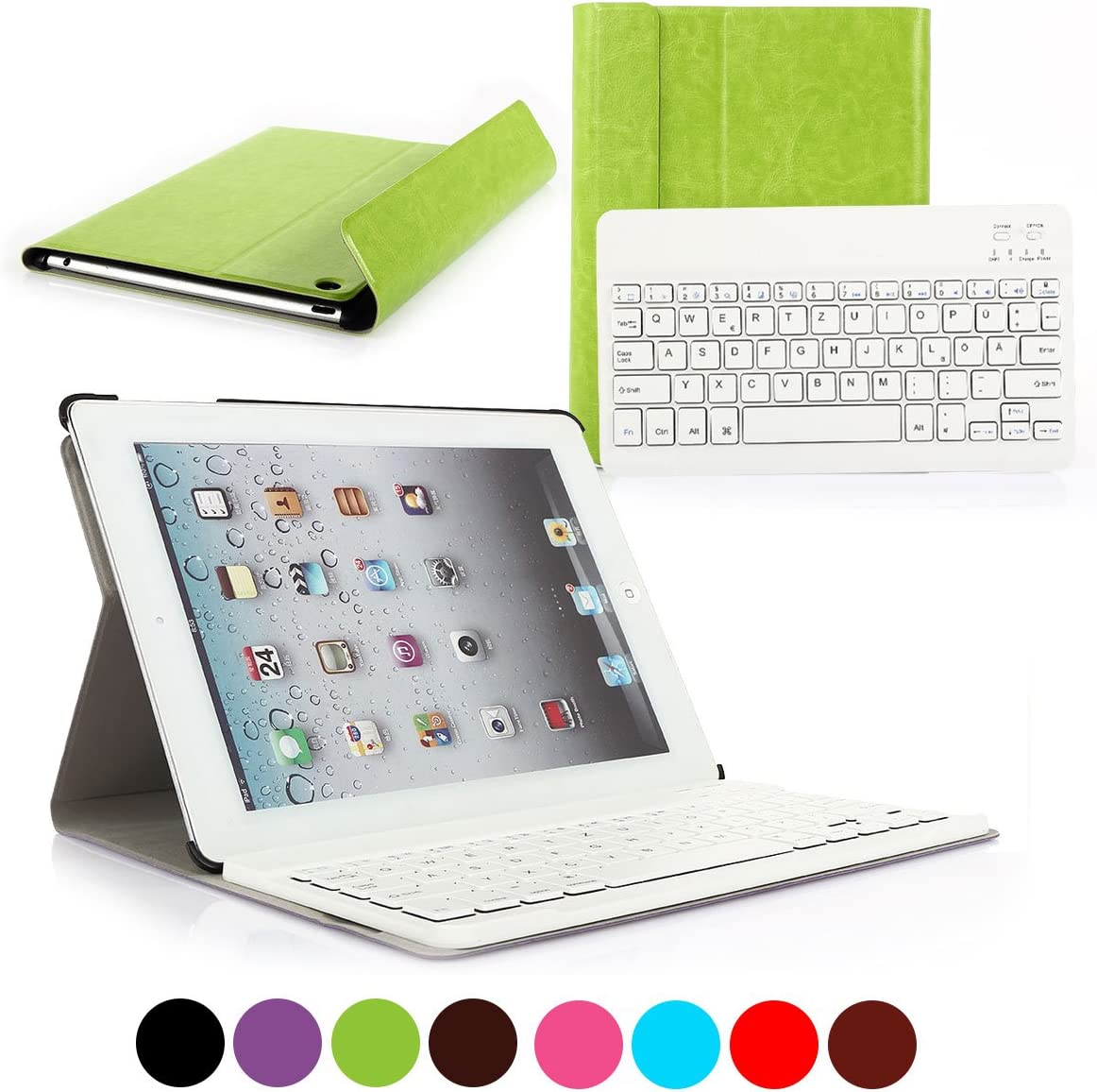 Removeable US Layout Bluetooth Keyboard with Magnetically ...