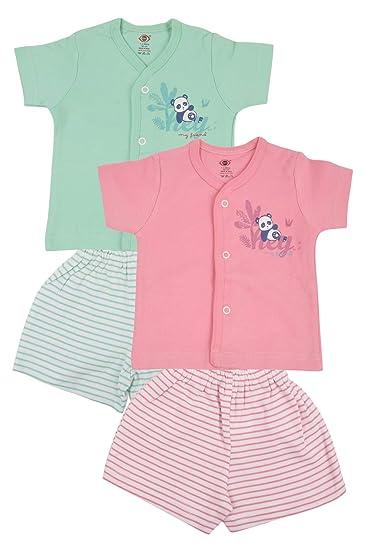 a5d49afa6 Zero Baby Boys/Girls Top Bottom Clothing Set, Pack of 2, Size: 0-3 ...