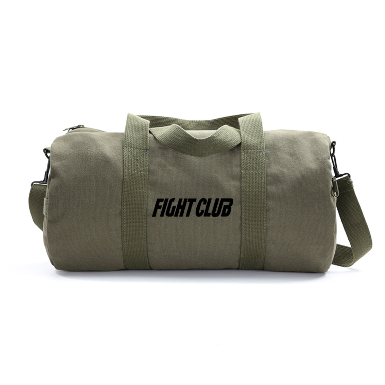 FIGHT CLUB Fighting Boxing Heavyweight Canvas Duffel Bag in Olive, Large