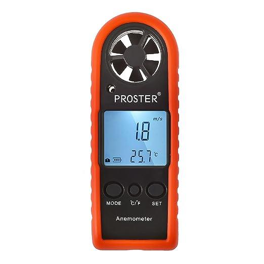 69 opinioni per Proster Anemometro Digitale LCD Retroilluminato Misuratore Velocità Vento Tester